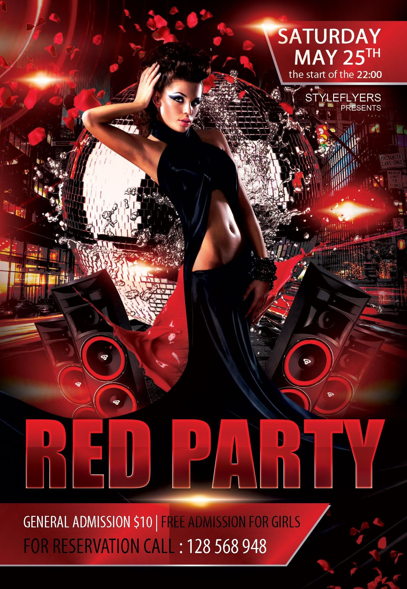 Free Nightclub Flyer Templates Free Red Party Flyer Psd Template Styleflyer Club