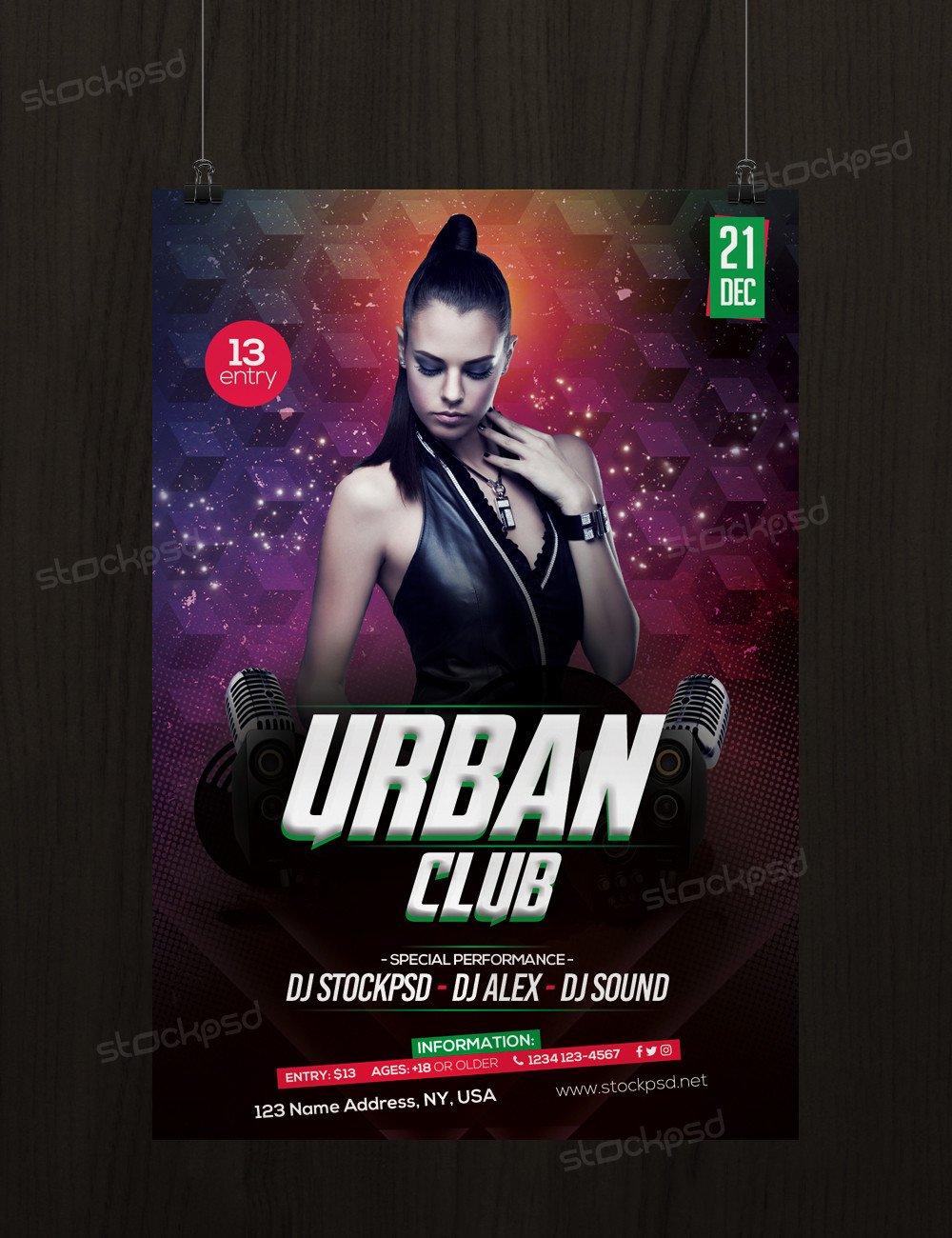 Free Nightclub Flyer Templates Free Urban Club Flyer Template Flyershitter