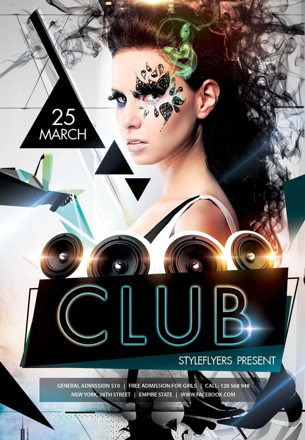 Free Nightclub Flyer Templates New Party Season Free Psd Flyer Templates Graphicsfuel