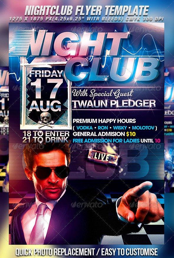Free Nightclub Flyer Templates Nightclub Flyer Template by Mexelina