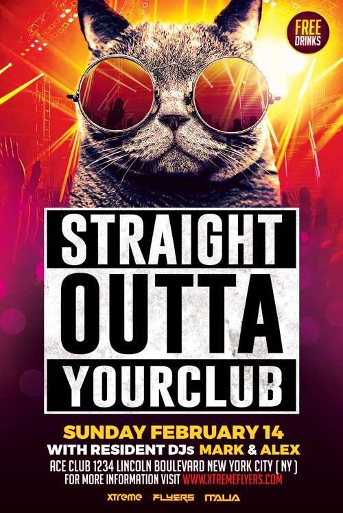 Free Nightclub Flyer Templates Nightclub Flyer Template Psd Download Xtremeflyers