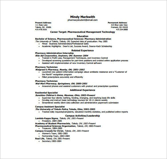 Free One Page Resume Template E Page Resume Template 12 Free Word Excel Pdf