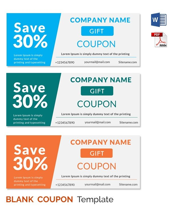 Free Online Coupon Maker Template Blank Coupon Templates – 26 Free Psd Word Eps Jpeg