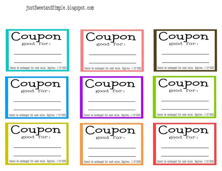 Free Online Coupon Maker Template Chores and Cleaning Ideas for Kids