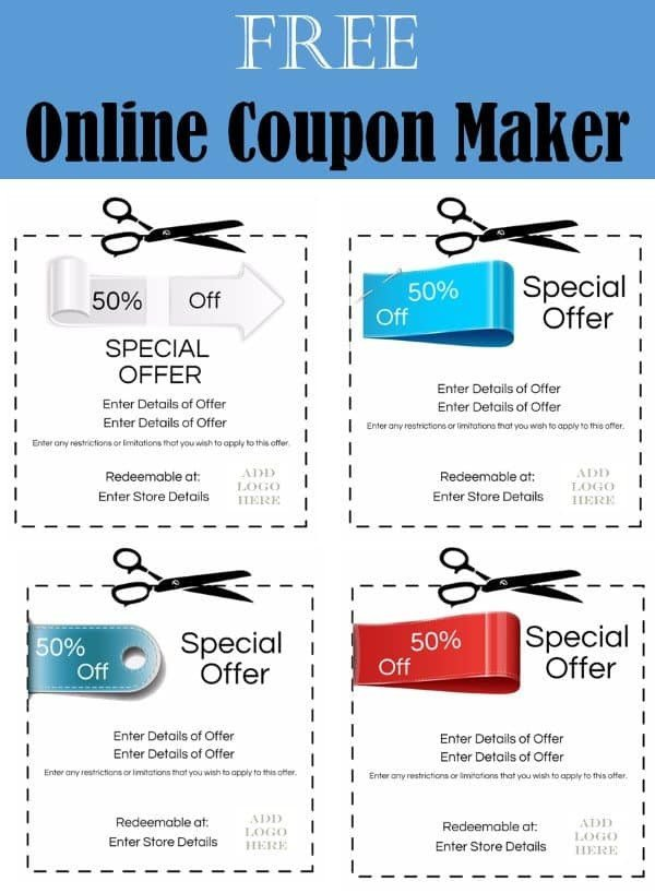 Free Online Coupon Maker Template Coupon Maker