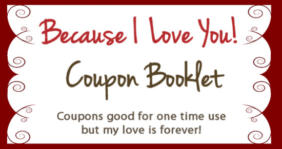 Free Online Coupon Maker Template Create Your Own Valentines Coupon Booklet for Free