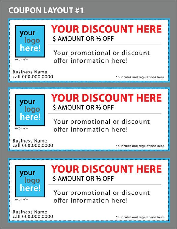 Free Online Coupon Maker Template Custom Coupon Templates for Your Business On Behance