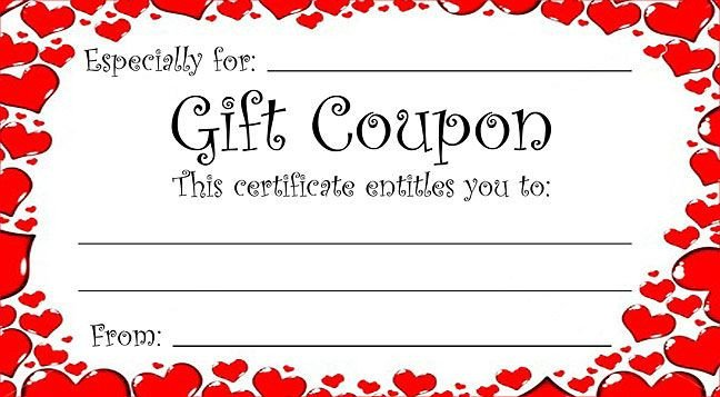 Free Online Coupon Maker Template Heart theme T Coupon for Valentine S Day or Any Time