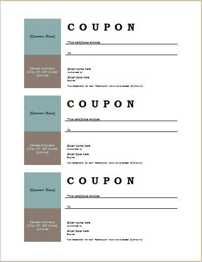 Free Online Coupon Maker Template How to Make Coupons with Sample Coupon Templates