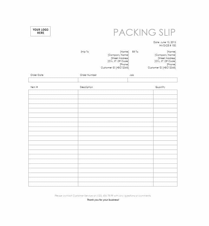 Free Packing Slip Template 30 Free Packing Slip Templates Word Excel Template