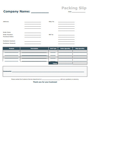 Free Packing Slip Template Packing Slip Template Free Download Create Edit Fill