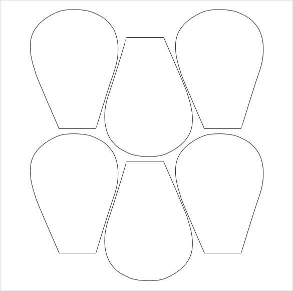 Free Paper Flower Templates Flower Petal Template 27 Free Word Pdf Documents