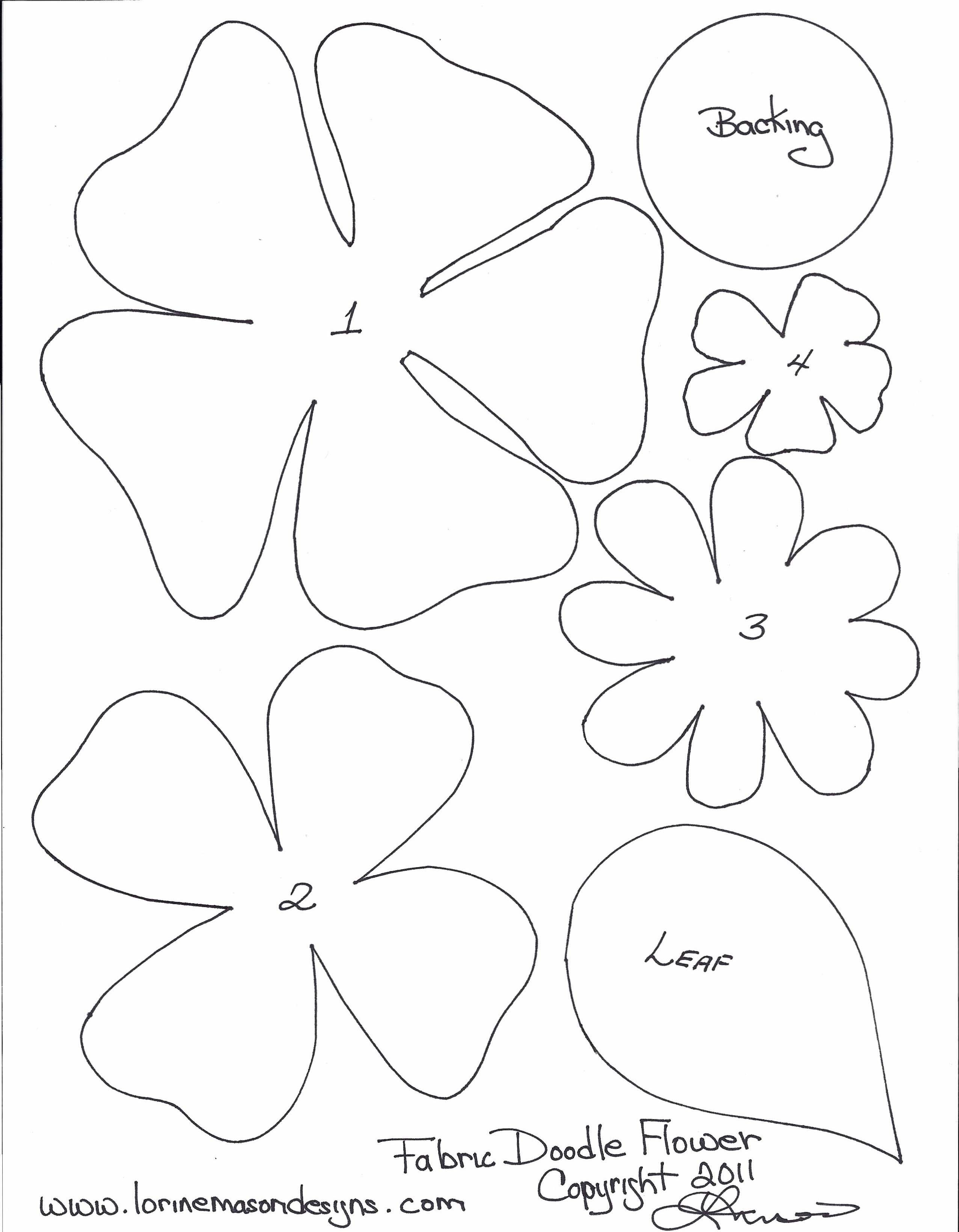 Free Paper Flower Templates Free Printable Paper Flower Templates