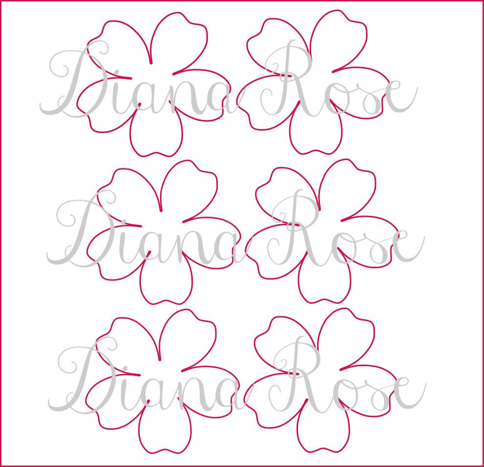 Free Paper Flower Templates Printable Paper Rose Templates Diy Paper Flowers Printable
