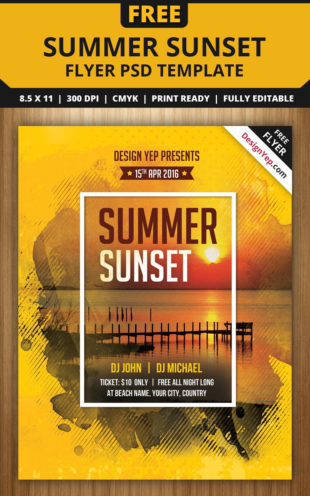 Free Party Flyer Templates Free Flyer Templates Psd From 2016 Css Author