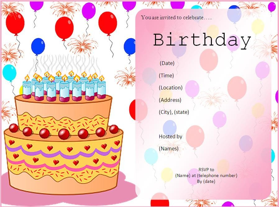 Free Party Invitation Template Word 10 Free Birthday Invitation Templates