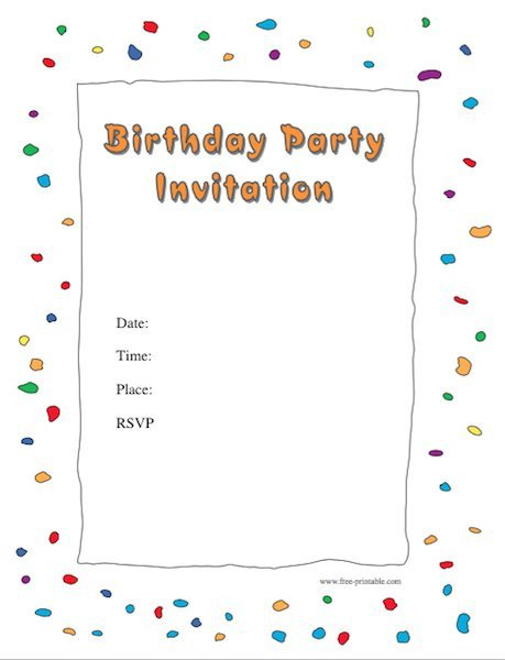 Free Party Invitation Template Word 40 Free Birthday Party Invitation Templates Template Lab