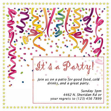 Free Party Invitation Template Word Free Party Invitation Templates the Grid System