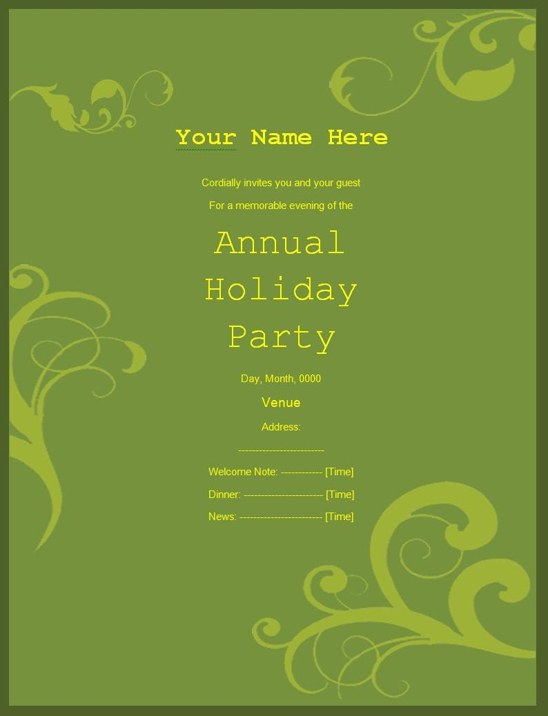 Free Party Invitation Template Word Invitation Templates