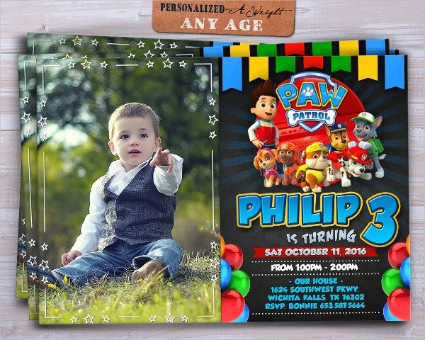 Free Paw Patrol Invitation Template 40 Invitation Templates Free Psd Vector Eps Ai