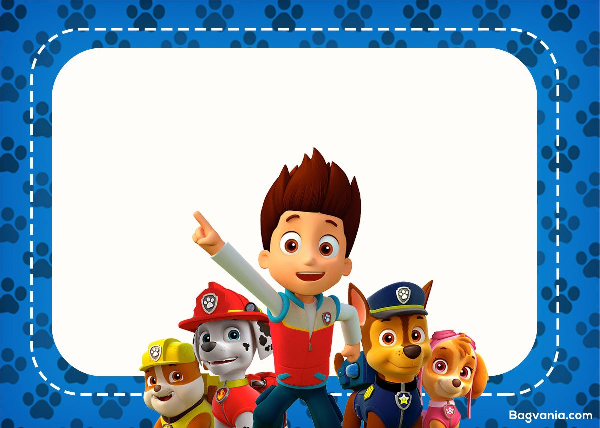 Free Paw Patrol Invitation Template Free Paw Patrol Birthday Invitations – Free Printable