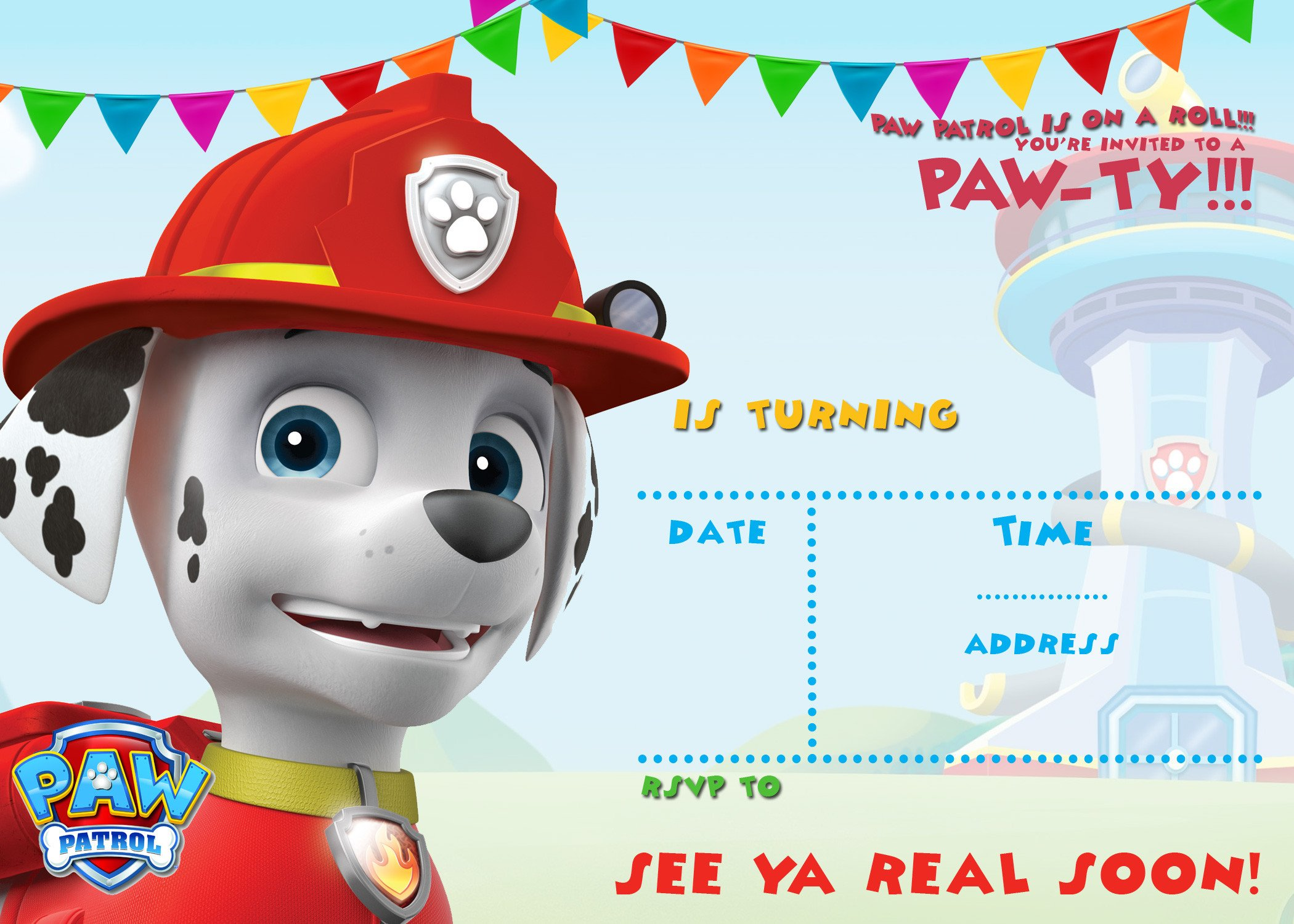 Free Paw Patrol Invitation Template Free Printable Paw Patrol Birthday Invitation Ideas