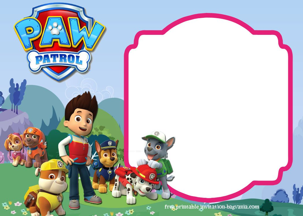 Free Paw Patrol Invitation Template Paw Patrol Birthday Invitation Templates – Most Plete
