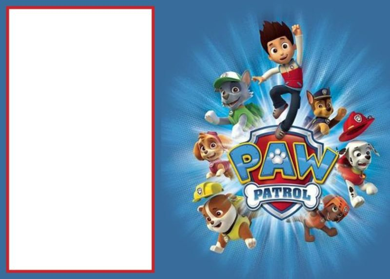 Free Paw Patrol Invitation Template Paw Patrol Invitations Sure Success