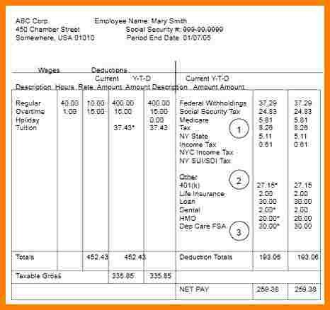 Free Pay Stub Template Excel 10 Free Pay Stub Template Excel