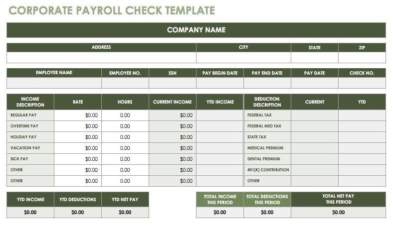 Free Payroll Checks Templates 15 Free Payroll Templates