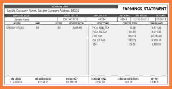 Free Payroll Checks Templates 8 Payroll Check Template