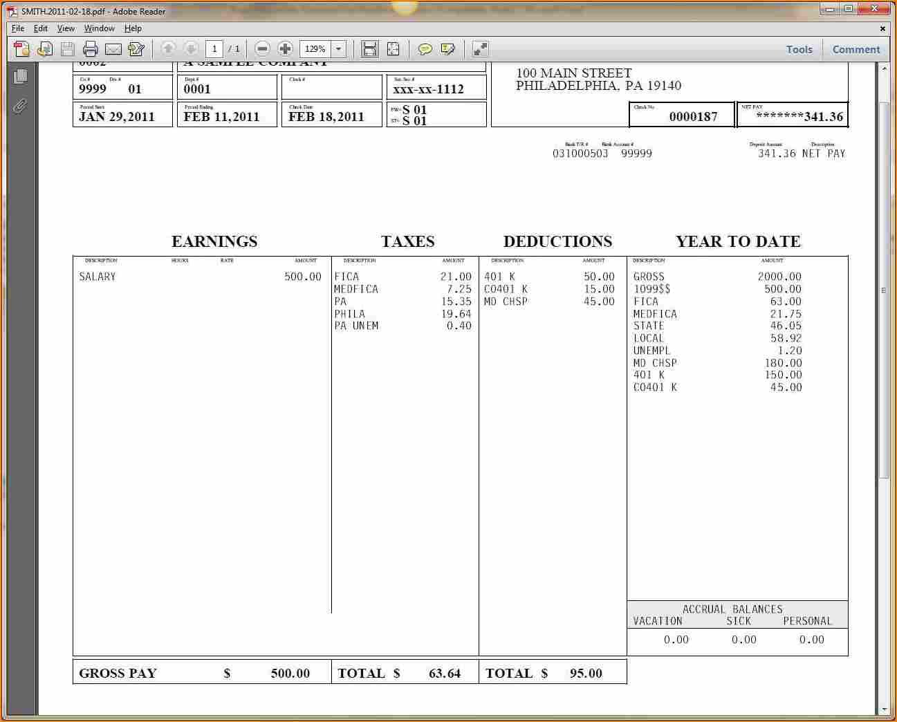 Free Payroll Checks Templates 9 Printable Payroll Checks