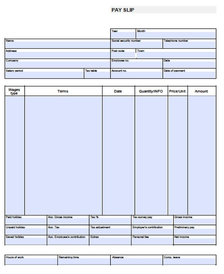 Free Payroll Checks Templates Check Stub Template Free