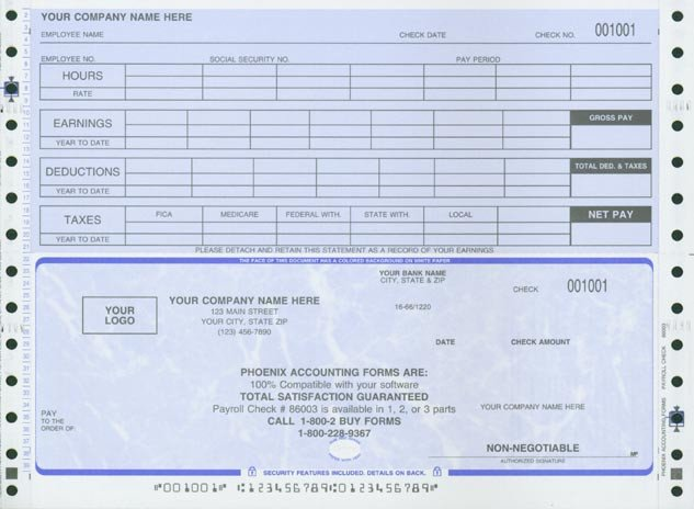 Free Payroll Checks Templates Pay Stub Template for Microsoft Fice Free