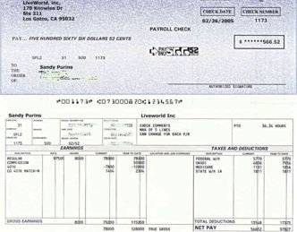Free Payroll Checks Templates Paycheck Stub Line Free Instant Preview