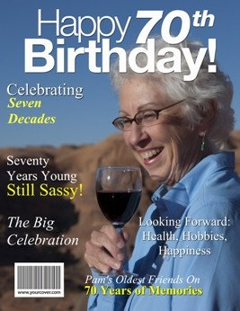 Free Personalized Magazine Covers Templates 70th Birthday
