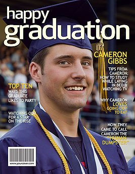 Free Personalized Magazine Covers Templates Custom Magazine Cover for A Graduation