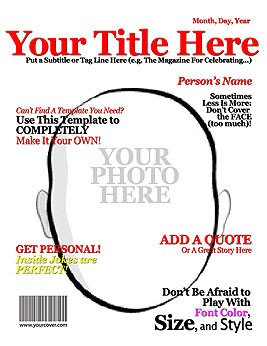 Free Personalized Magazine Covers Templates Make Your Own Title Fake Magazine Cover
