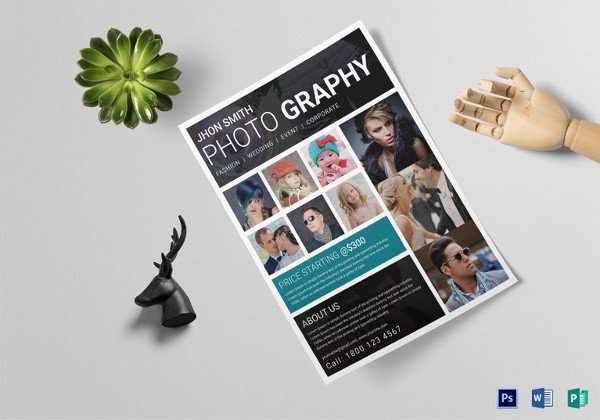 Free Photography Flyer Templates 34 Graphy Flyers Psd Vector Eps Jpg Download