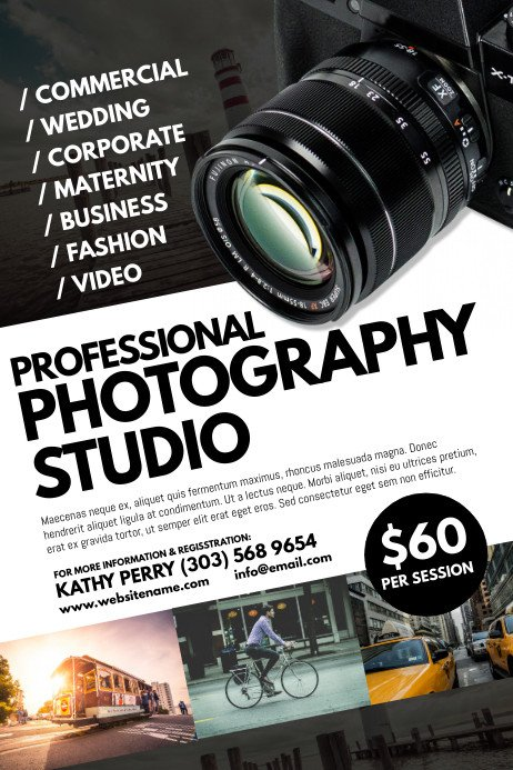 Free Photography Flyer Templates Copy Of Graphy Studio Poster