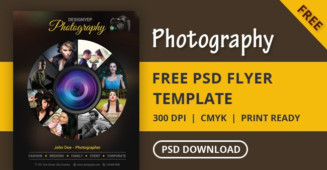Free Photography Flyer Templates Free Graphy Flyer Psd Template Designyep