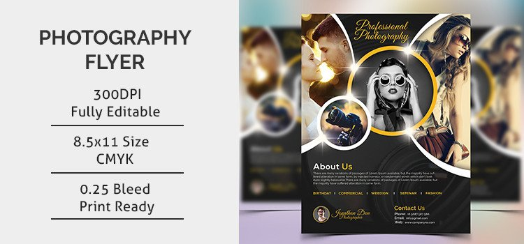 Free Photography Flyer Templates Graphy Flyer Template