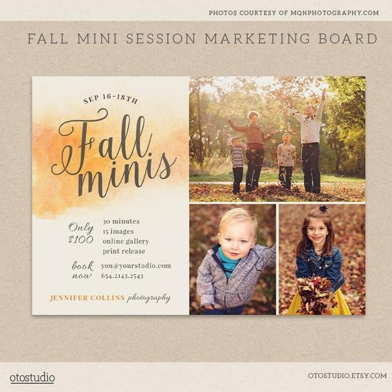 Free Photography Marketing Templates Fall Mini Session Template Graphy Marketing Board