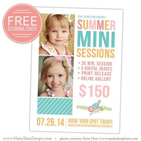 Free Photography Marketing Templates Free Summer Mini Session Template