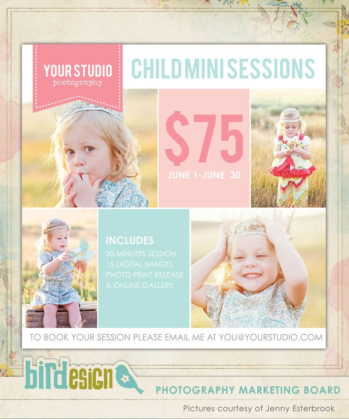 Free Photography Marketing Templates Graphy Marketing Board Newsletter Template by Birdesign