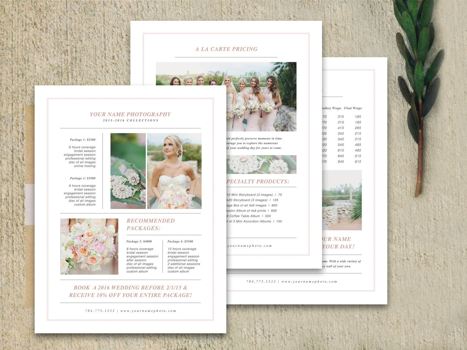 Free Photography Marketing Templates Graphy Marketing Graphy Pricing Template