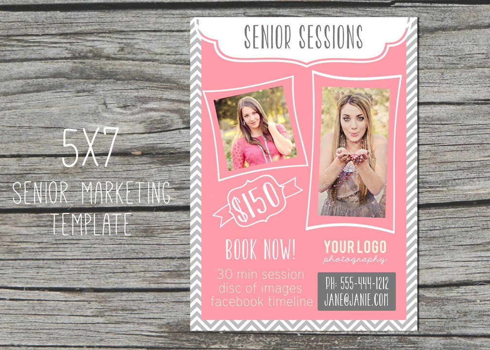 Free Photography Marketing Templates Graphy Marketing Template 5x7 Senior by Sweetlittlemuse