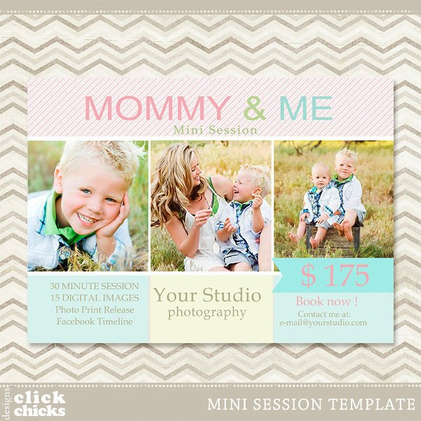 Free Photography Marketing Templates Mini Session Mommy & Me Graphy Marketing Template 006