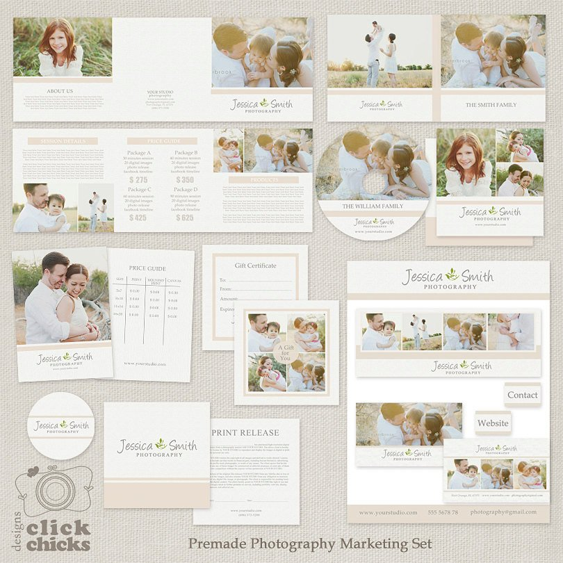 Free Photography Marketing Templates Save Bundle Premade Graphy Marketing Templates Set and