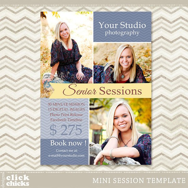 Free Photography Marketing Templates Senior Mini Session Shop Template Graphy Marketing